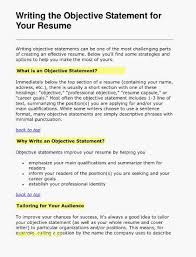 Example Of A Good Objective On A Resume 27 Impressive Resume Goals And Objectives Examples