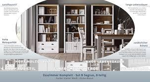Esszimmer Komplett Set B Segnas 8 Teilig Farbe Kiefer Weiß Eiche Braun