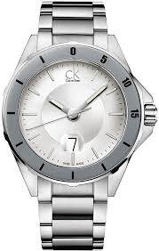 men s calvin klein ck play stainless steel watch k2w21y46
