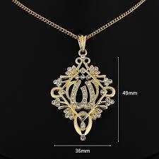 whole free women necklaces pendants gold chain 24kgp golden exquisite pendant pe100583