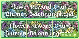 Flower Chart In English Flowers Reward Chart Display Banner English German Eal