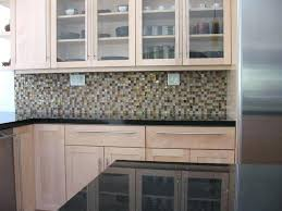 mosaic tile backsplash one inch mosaic glass tiles installed in