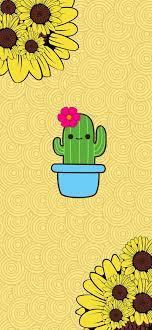 Happy Sunflower, animated, bird, cactus ...