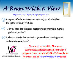 womenspeak we re reintroducing our a room a view series and inviting caribbean women to