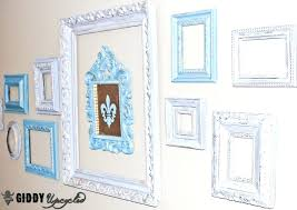 white frames on white walls distressed vintage frames white or black frames on white walls