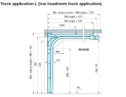 low headroom garage door track installation interior furniture brackets