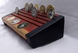 custom made challenge coin display