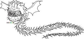 Screaming Death Dragon Coloring Pages Razorwhip Train Cartoon