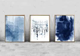 blue wall art