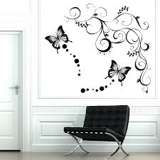 wall decals flowers and butterflies the best in butterfly wall stickers you  can adopt for your . wall decals flowers and butterflies ...