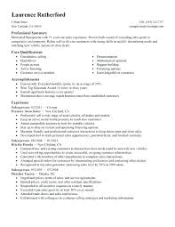 Qualifications Summary Resume Example Sample Professional Summary