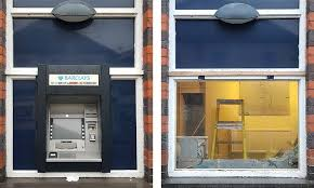 coastal glass were contacted by a lincoln based company who specialise in the removal of cash machines across the country barclays bank in high st