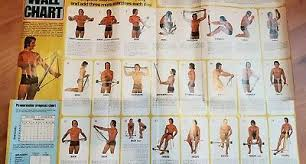 Bullworker Chart Original 1970s Bullworker Exercises Wall Chart 19 99