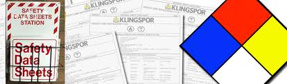klingspor safety data sheets sds