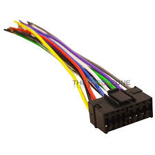 16 pin car radio stereo replacement wiring harness for select jvc  at Jvc Kd S790 Wiring Diagram
