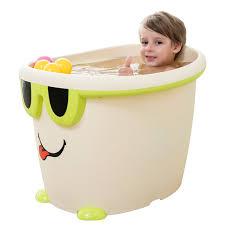 nuoao extra large baby bath two in one baby thickening bath barrel young children can take a bath tub plastic bathtub bath barrel light yellow