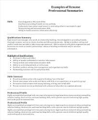 Example Profile For Resumes Profile Resume Example Thrifdecorblog Com