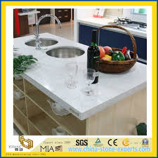 ce custom size artificial quartz stone kitchen countertop with sink yqw qc10001