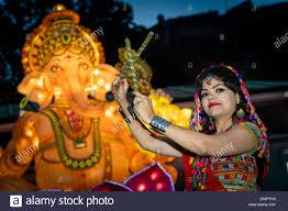 SWITCH ON OF DIWALI ILLUMINATIONS, Princes Street Gardens, Ross Band Stand.  Dandiya group Poonam gupta Stock Photo - Alamy