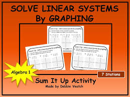 solve linear systems by graphing sum it up activity by debbiesalgebraactivities teaching resources tes