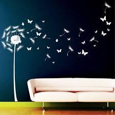 Wandtattoo Pusteblume Natur Pflanze Polle Dandelion Butterfly Blume