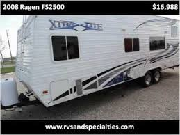2008 ragen fs2500 28ft toy hauler houston cypress tx 2 elec queen beds open plan 16988