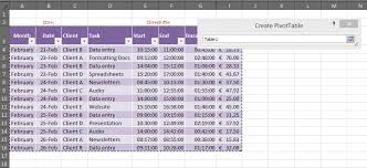 How To Use Excel As A Timesheet How To Create A Pivot Table For A Timesheet Outofhoursadmin