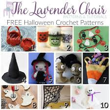 Halloween Crochet Patterns Delectable FREE Halloween Crochet Patterns The Lavender Chair