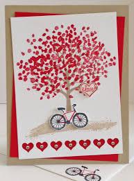 Stampin Up Handmade Valentine Card Sheltering Tree