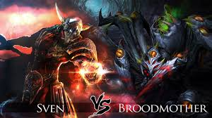 dota 2 sven vs broodmother one click battle youtube