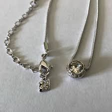 swarovski crystal angelic pendant necklace nwt