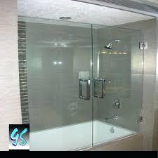 glass bathtub double doors tub frameless home depot