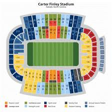 Carter Finley Seating Chart Nc State Carter Finley Stadium Seating Chart