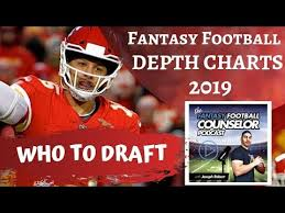 Football Team Depth Charts Fantasy Football 2019 Depth Charts Youtube