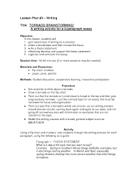 tornado brainstorming rd th grade lesson plan lesson planet