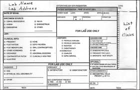Original Pap Test Requisition Slip Open I