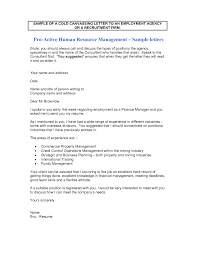 Cold Call Resume Cover Letter Examples
