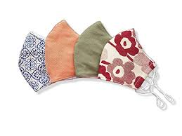 Stylish Pattern Cotton Face Mask With Filter Pocket ... - Amazon.com