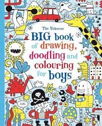 big book of drawing doodling colouring for boys