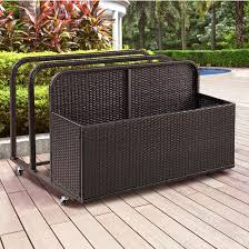 palm harbor outdoor wicker float caddy measuring 37 1 2 w x 44 d x 29 1 2 h by crosley furniture kitchensource com