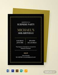 Free Surprise Party Invitation Template Word Psd
