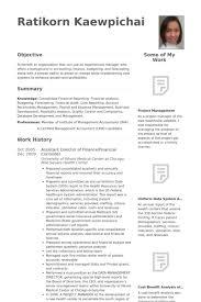 Sample Director Of Finance Resume Assistant Director Of Finance Financial Controller Resume Example