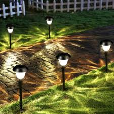 Red Solar Pathway Lights Solar Garden Lights Outdoor Color Changing Led Pathway Lamp Lighting D6h3