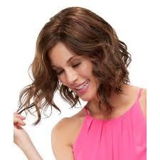 Nové Dámske Módne Dámske Krátke Vlnité Vlasy Parochne Syntetické čipky Predné ľudské Vlasy Parochňa Strednej účes At Vova