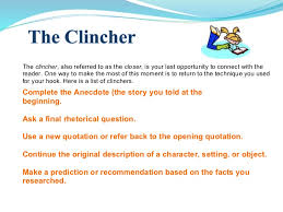 essay writing power point  15 the clincher