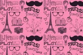 cute girly mustache wallpaper. Delighful Mustache Background Cool Mustache Paris Pink Wallpaper In Cute Girly Mustache Wallpaper A