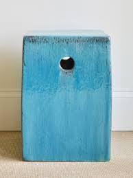 blue garden stool. Audrey Blue Garden Stool G