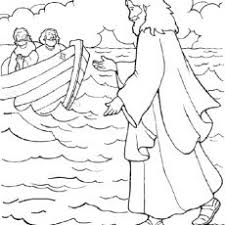 Jesus Walks On Water Coloring Page Coloring Design