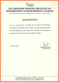 Certificate Salary Certificate Format For Doctors In India Pdf Doc