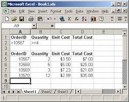 Excel Examples Xls Ms Excel How To Use The Dcount Function Ws